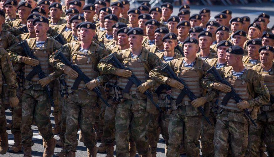 Зведений загін 36 окремої бригади морської піхоти брав участь у Марші Незалежності 24 серпня 2015 року
