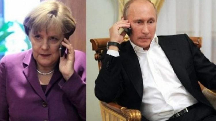 Меркель та Путін обговорили транзит газу через Україну